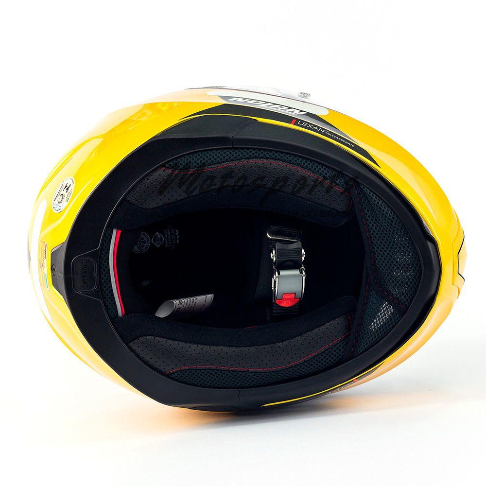Capacete Nolan N87 Emblema Dourado/76 C/ Viseira Solar - Ganhe Touca Balaclava  - Motosports