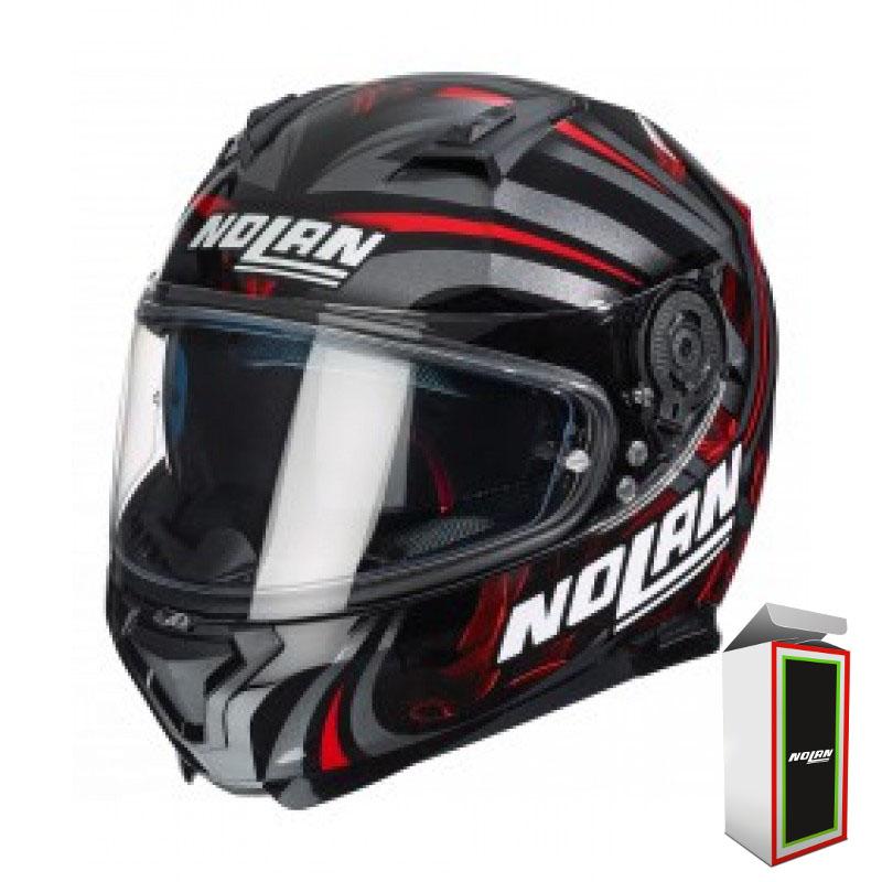 CAPACETE NOLAN N87 LEDLIGHT N-COM - GLOSSY RED (COMPRE E GANHE UMA BALACLAVA)  - Motosports
