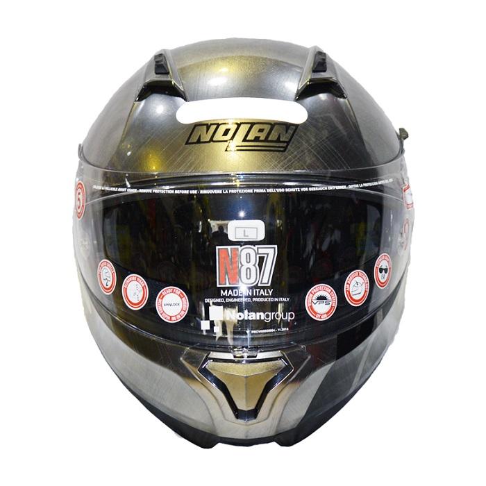 Capacete Nolan N87 MARTZ N-COM 28 SCRATCHED CHROME  - Motosports