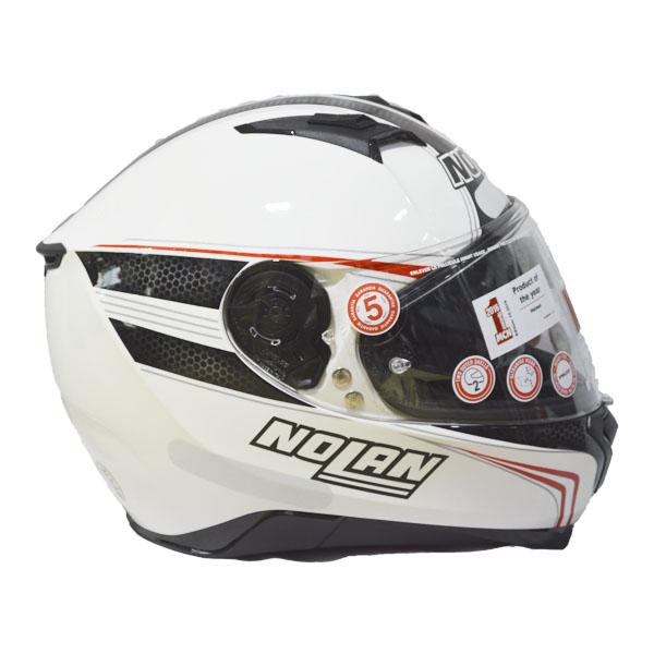 Capacete Nolan N87 RAPID N-COM 17 Branco e preto  - Motosports