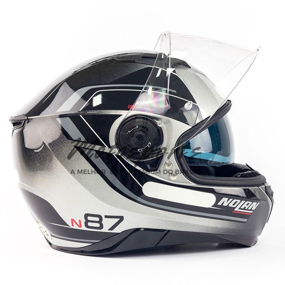 CAPACETE NOLAN N87 SAVOIR FAIRE - ANTRACIDE - COM VISEIRA SOLAR E PINLOCK  - Motosports
