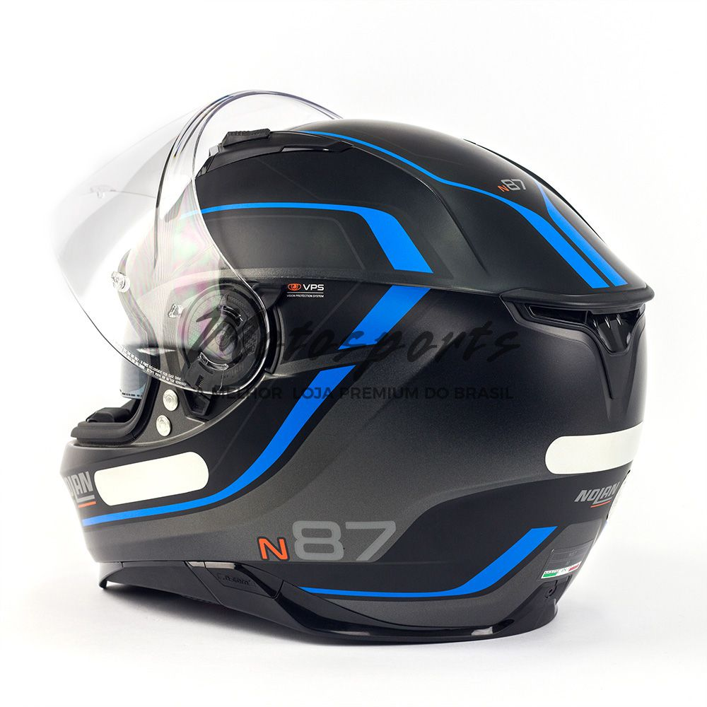 CAPACETE NOLAN N87 SAVOIR FAIRE - N-COM - COM VISEIRA SOLAR E PINLOCK  - Motosports