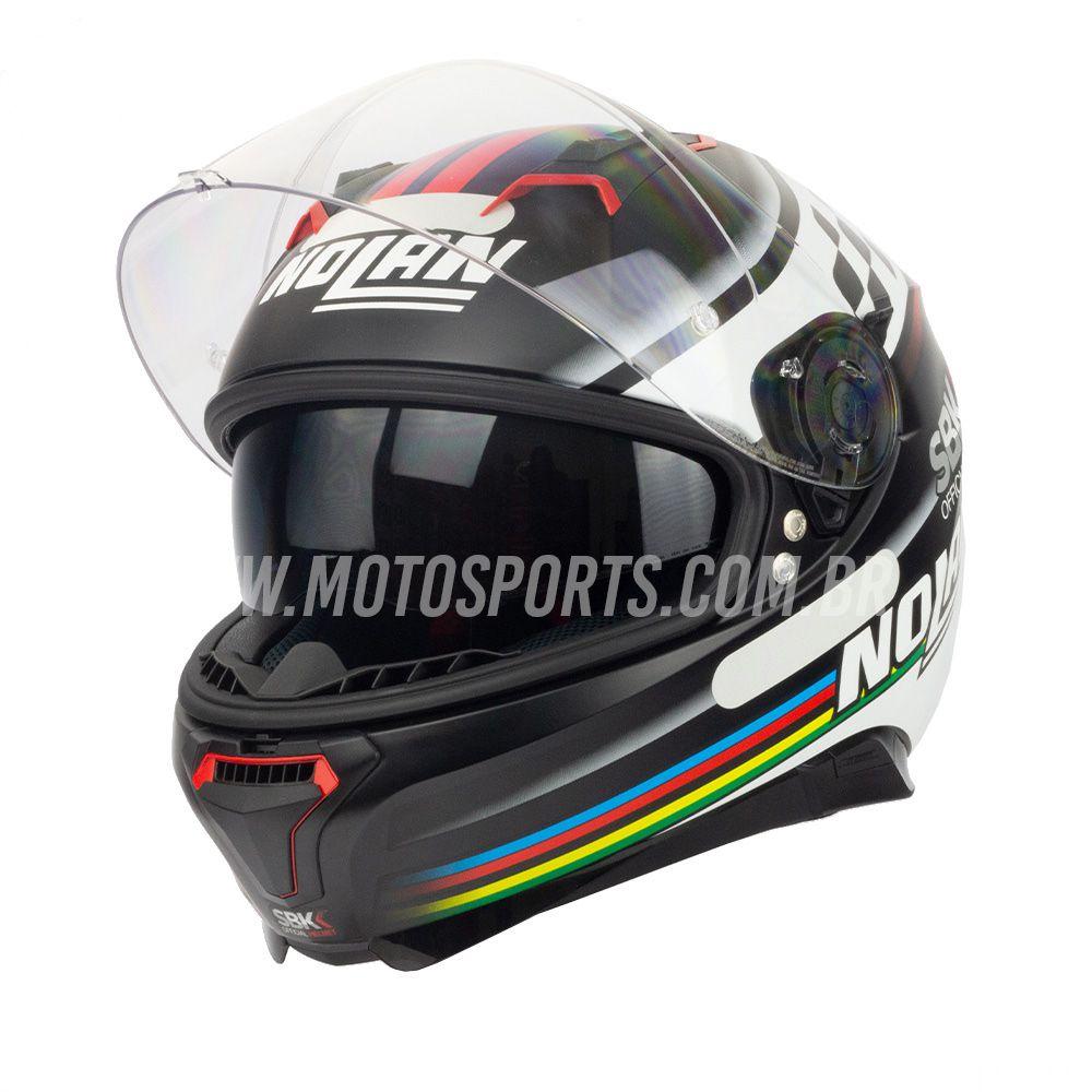 CAPACETE NOLAN N87 SBK (60) - 58-M  - Motosports