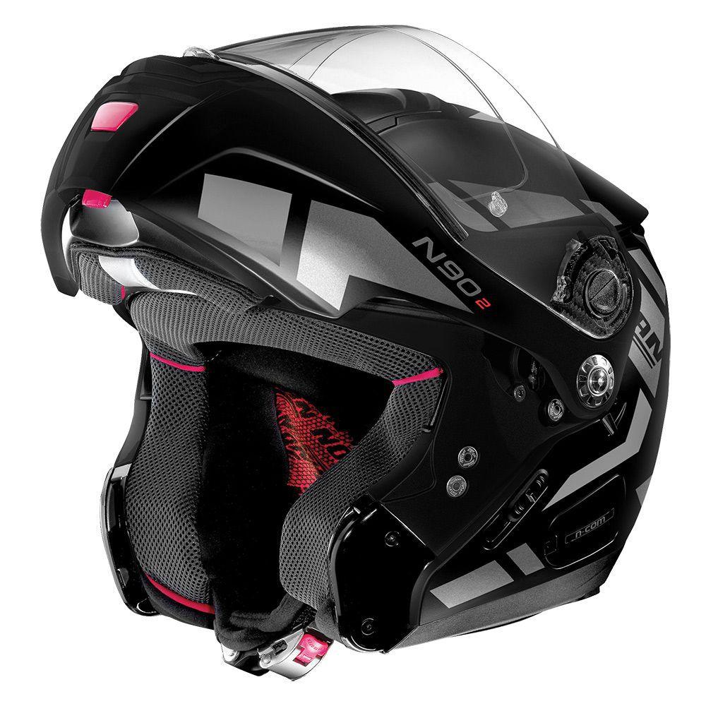 Capacete Nolan N90 Euclid Flat Black/Grey 26 Escamoteável C/ Viseira Solar Interna - (GANHE BALACLAVA NOLAN)  - Motosports