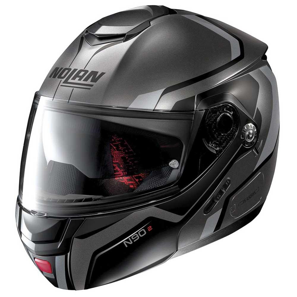 Capacete Nolan N90 Meridianus Preto/Cinza (cor 30) Escamoteável C/ Viseira Solar - (GANHE BALACLAVA NOLAN)  - Motosports