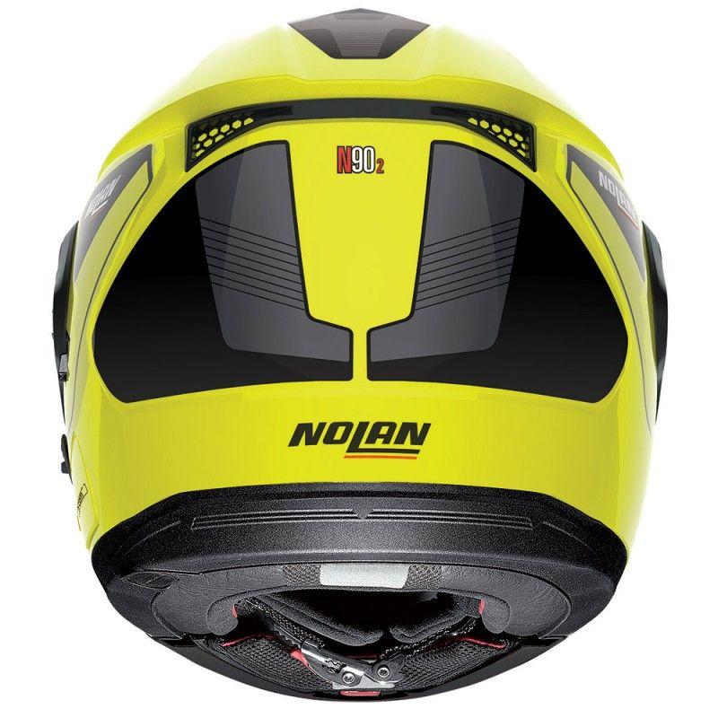 CAPACETE NOLAN N90 STRATON AMARELO ESCAMOTEÁVEL (GANHE BALACLAVA NOLAN) C/ VISEIRA SOLAR INTERNA  - Motosports
