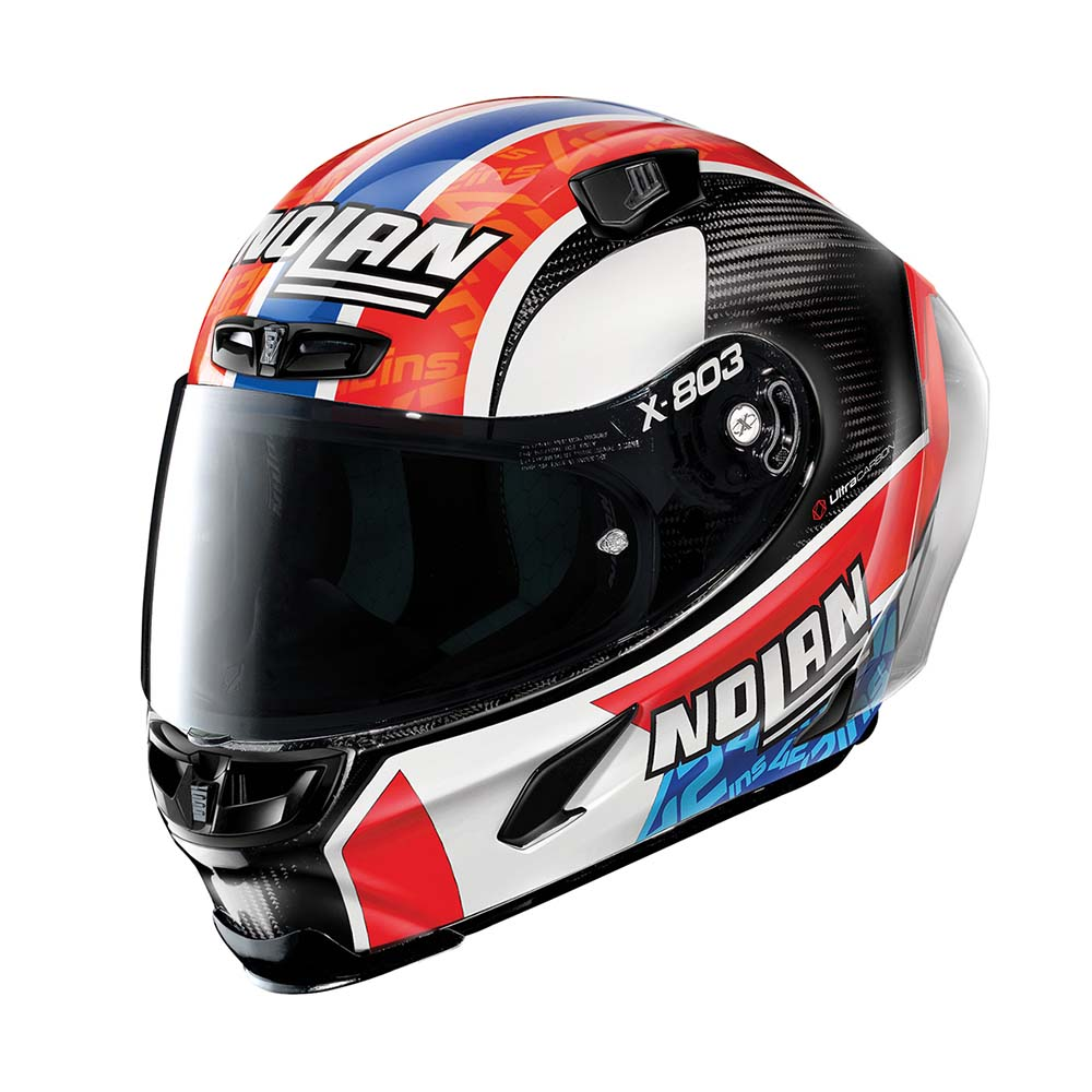 Capacete Nolan X-803 RS Ultra Carbon Alex Rins Piloto - (Grupo Nolan) - Ganhe Touca Balaclava  - Motosports