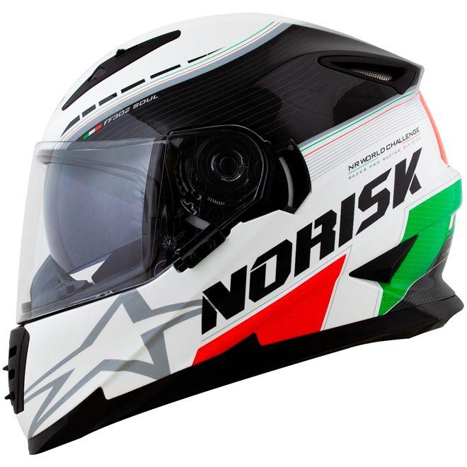 CAPACETE NORISK FF302 GRAND PRIX ITALY   - Motosports