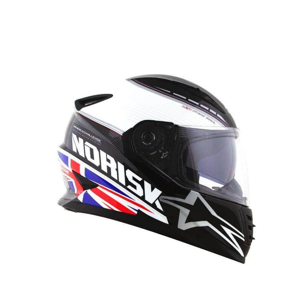 Capacete Norisk FF302 Grand Prix United Kingdom  - Motosports