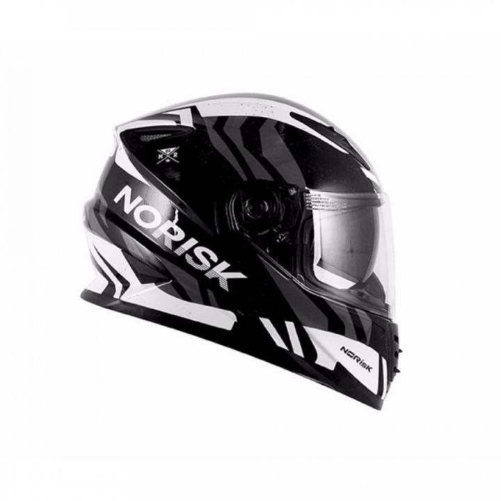 Capacete Norisk FF302 Jungle - Preto e Branco  - Motosports