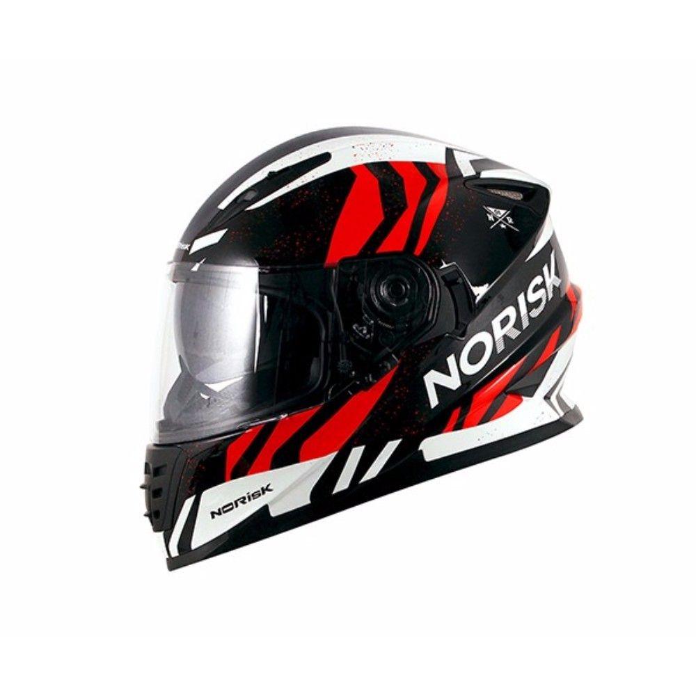 Capacete Norisk FF302 Jungle - Preto e Vermelho  - Motosports