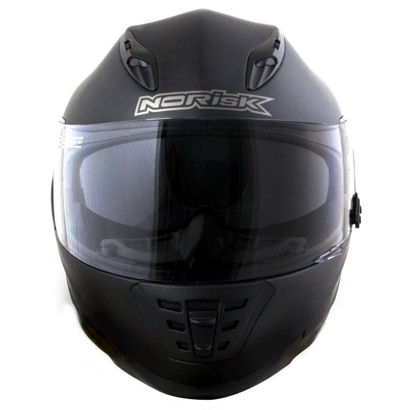 CAPACETE NORISK FF302 PRETO FOSCO MONOCOLOR  - Motosports