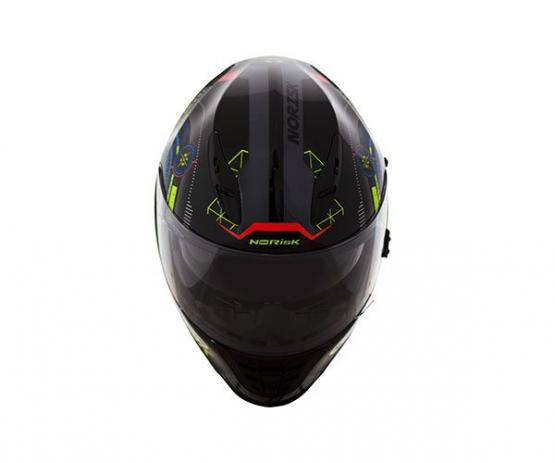 CAPACETE NORISK FF302 SCREEN AZUL/PRETO/LARANJA   - Motosports