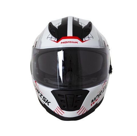 CAPACETE NORISK FF302 SCREEN BRAN/PRETO/VERMELHO  - Motosports