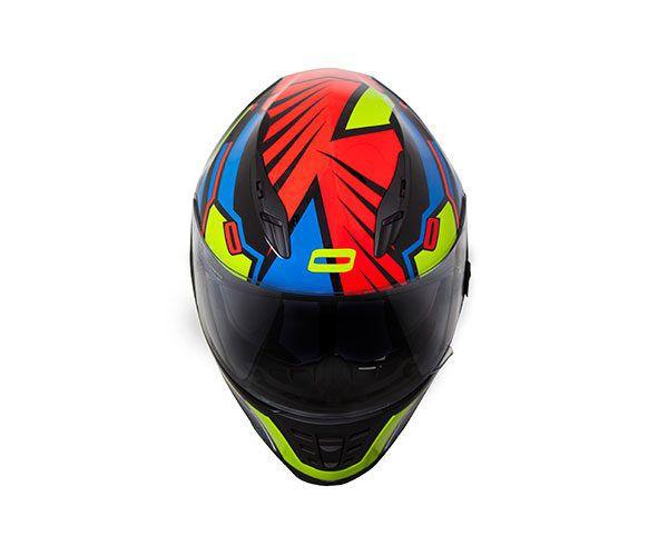 Capacete Norisk FF302 WIZARD PRETO/AZUL/AMARELO/VERMELHO  - Motosports