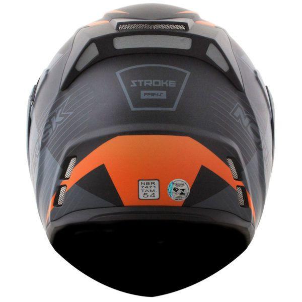 CAPACETE NORISK FF345 STROKE MATTE PRETO/CINZA/LARANJA  - Motosports