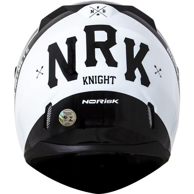 Capacete Norisk FF391 Knight Preto/Branco  - Motosports