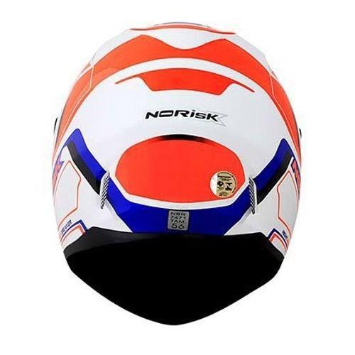CAPACETE NORISK FF391 NIGHT BREAKER WHT/ORG/BLUE   - Motosports