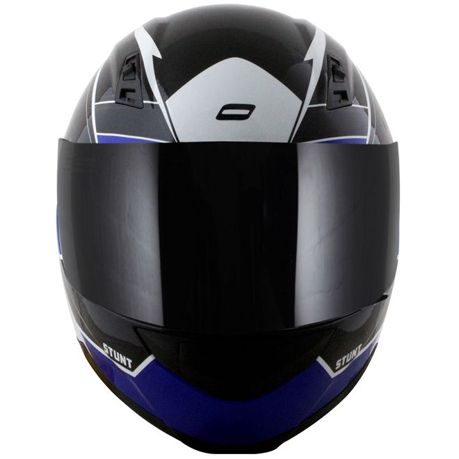 Capacete Norisk FF391 Storm Preto/Branco/Azul Brilho  - Motosports