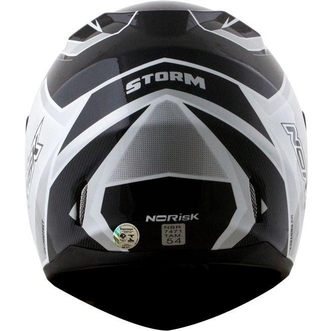 Capacete Norisk FF391 Storm Preto/Branco Brilho  - Motosports