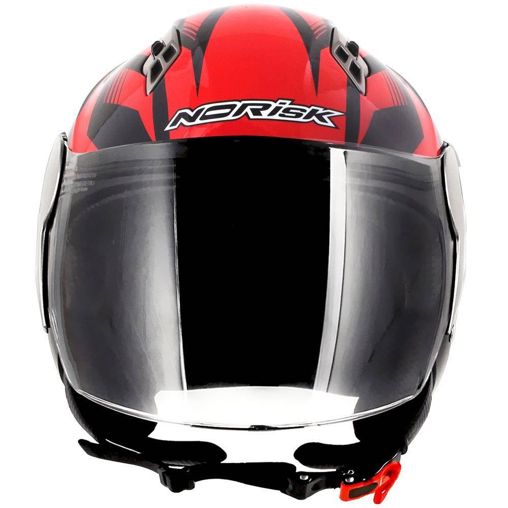 CAPACETE NORISK JET SLIDE VERMELHO/PRETO  - Motosports