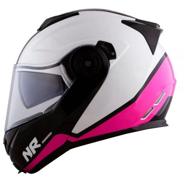 CAPACETE NORISK ROUTE FF345 CHANCE BRANCO / ROSA / PRETO  - Motosports