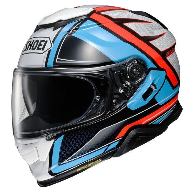 Capacete Shoei GT-Air 2 Haste TC-2 Branco/Azul/Vermelho - C/ Pinlock Anti-Embaçante  - Motosports