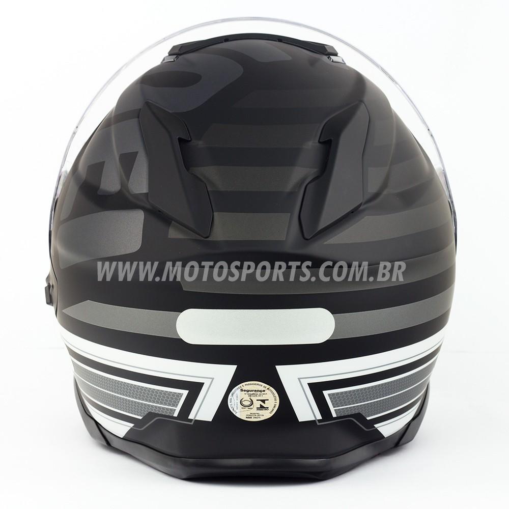 Capacete Shoei GT-Air 2 Insigna TC-5 Preto/Branco - C/ Pinlock Anti-Embaçante  - Motosports