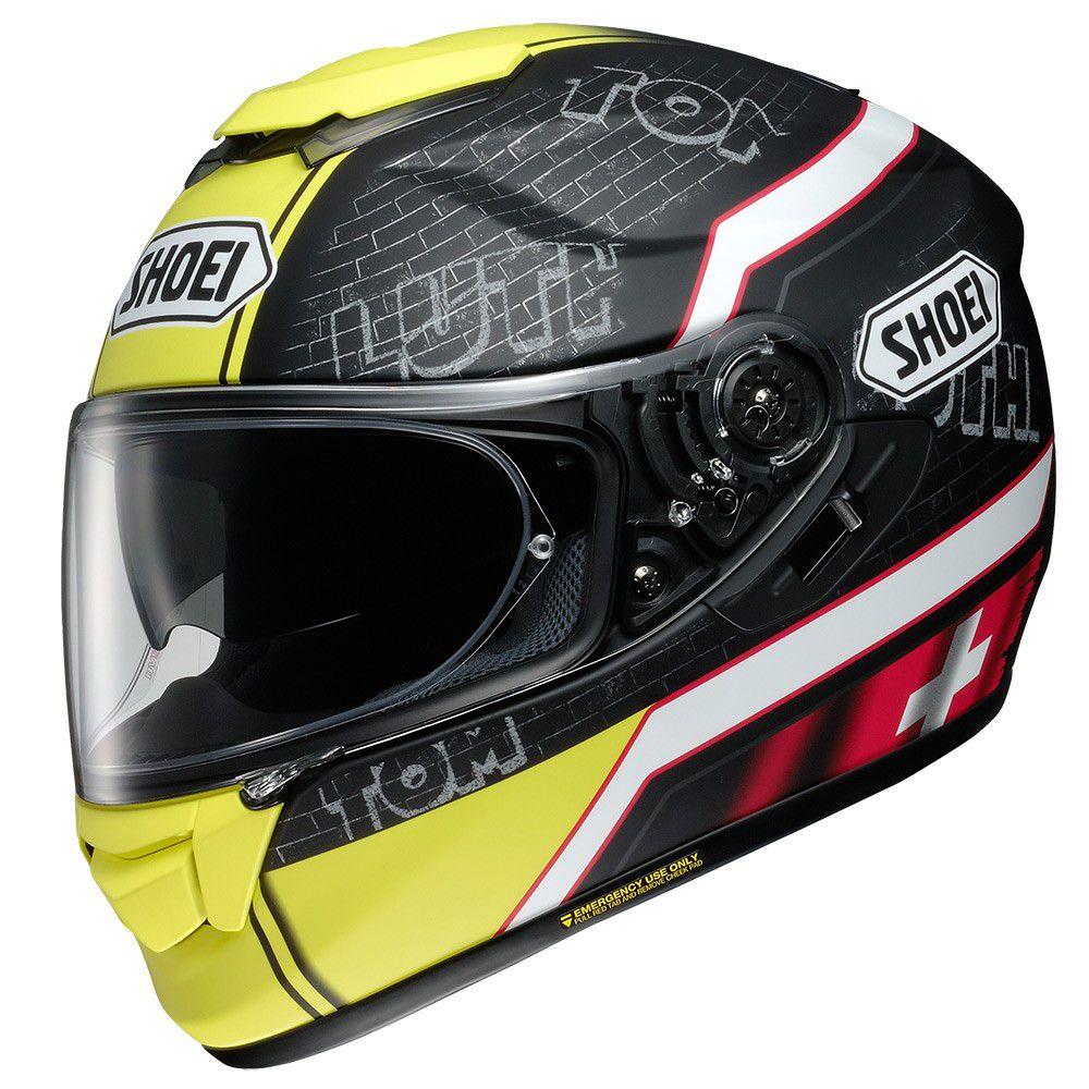 CAPACETE SHOEI GT-AIR LUTHI TC-3 C/ Viseira Solar e Pinlock Anti-Embaçante MegaOferta!  - Motosports