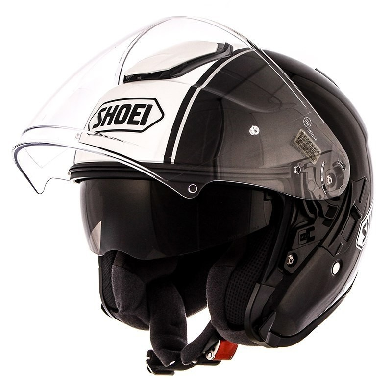 Capacete Shoei J-Cruise Corso White/Black Aberto c/ Viseira Solar  - Motosports
