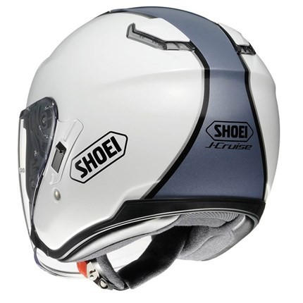 Capacete Shoei J-Cruise Corso White/Grey Aberto c/ Viseira Solar  - Motosports