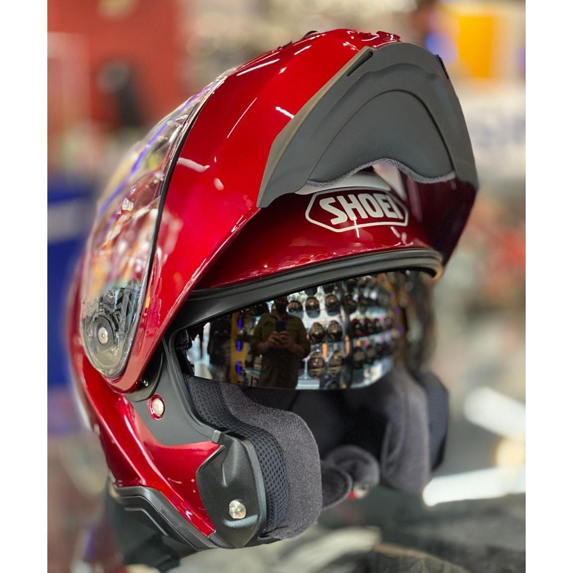 Capacete Shoei Neotec 2 Vinho Escamoteável - Big trail  - Motosports