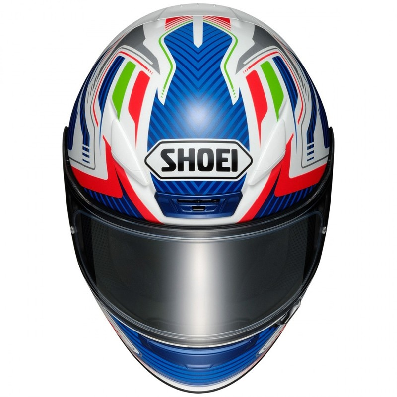 CAPACETE SHOEI NXR STAB TC - 2 BRANCO/AZUL ESPORTIVO - NOVO!  - Motosports