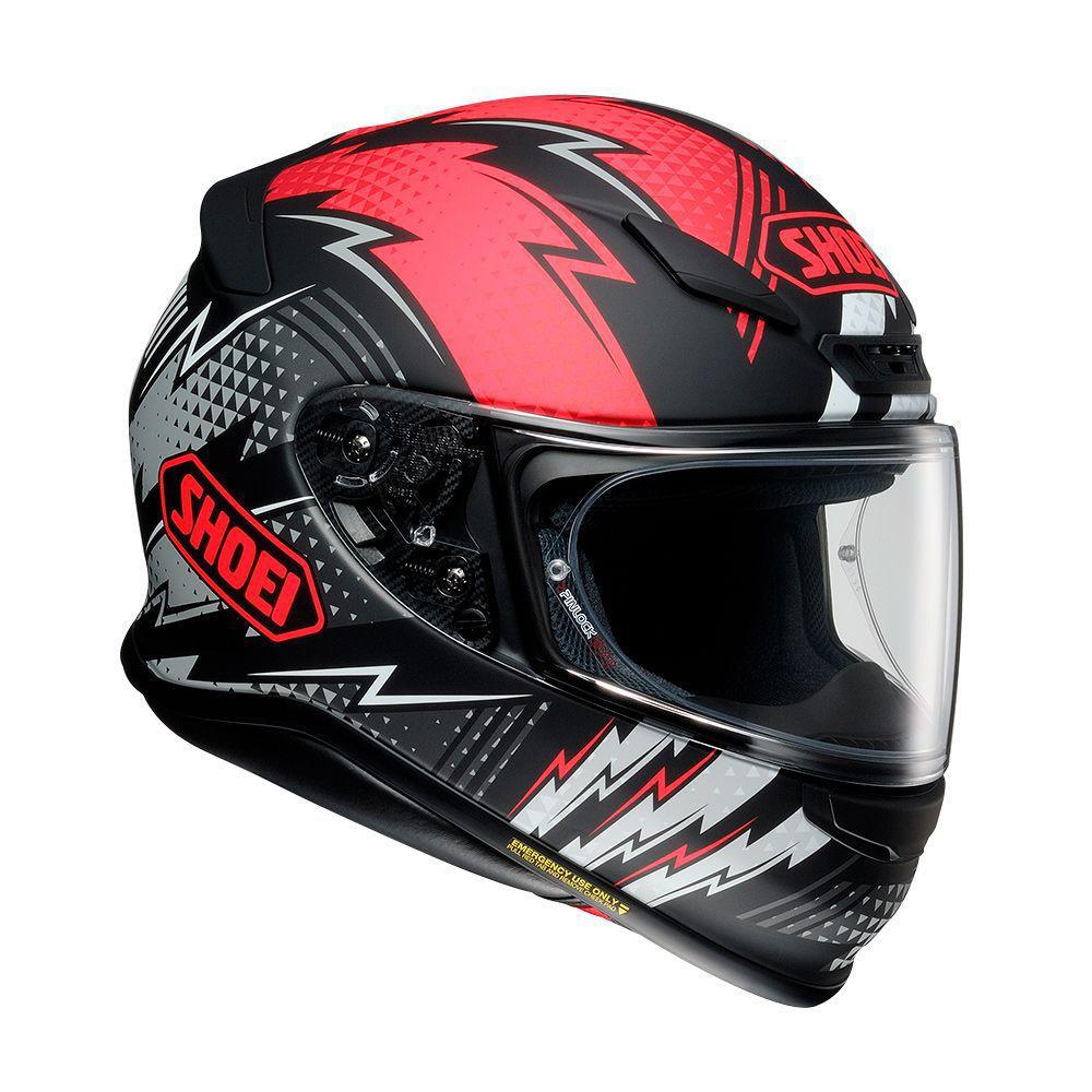 CAPACETE SHOEI NXR VARIABLE TC-1 Preto/Vermelho Fosco - NOVO !  - Motosports