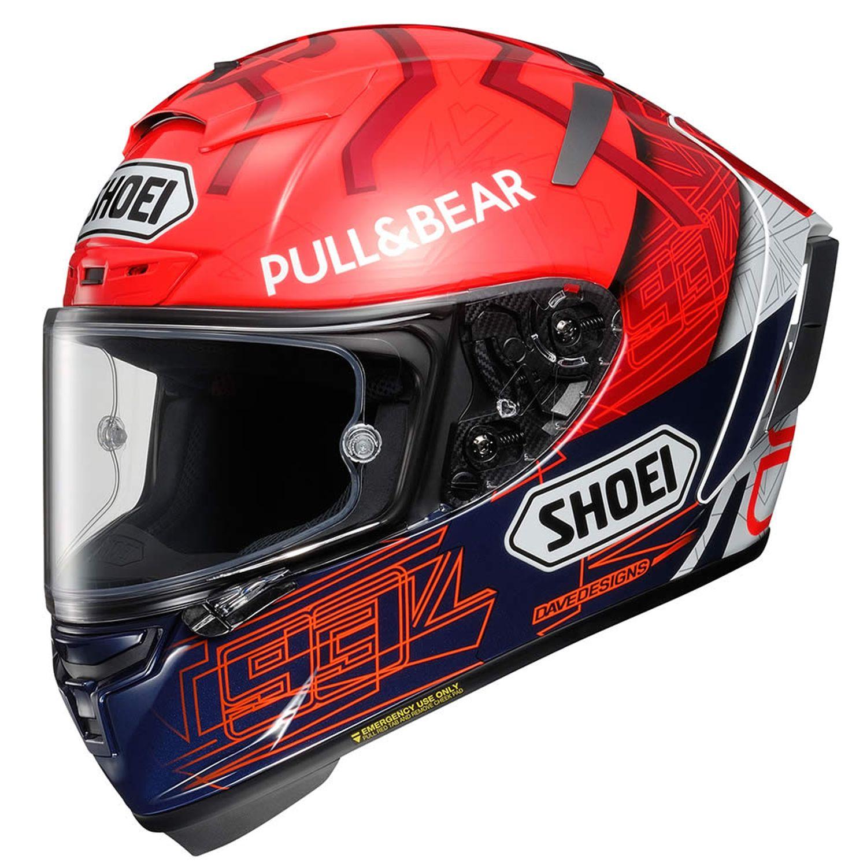 Capacete Shoei X-Spirit 3 Marc Marquez 6 - X-Fourteen - X-Spirit III - Esportivo  - Motosports