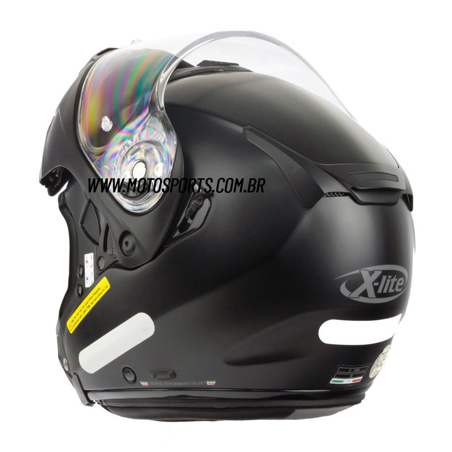 Capacete X-Lite X-1004 Elegance Preto Articulado/Escamoteável (GANHE TOUCA BALACLAVA X-LITE)  - Motosports