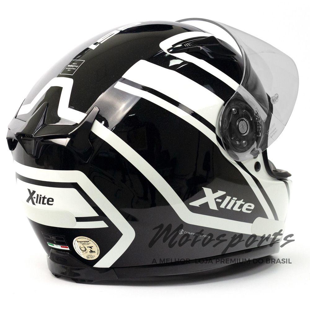 Capacete X-Lite X-661 Conrad Metal White 44 Tri-Composto - Blackfriday  - Motosports