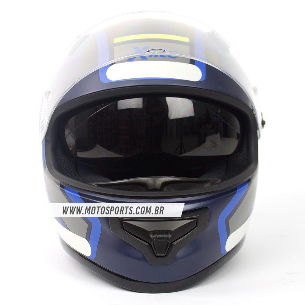 CAPACETE X-LITE X-661 CONRADE AZUL FOSCO (41) Tri-Composto - MegaOferta!  - Motosports