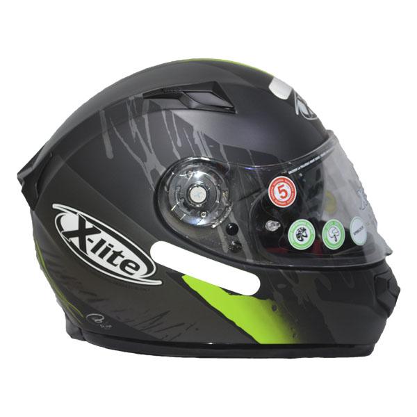 CAPACETE X-LITE X-661 - SPOX N-COM - GREEN (TRI-COMPOSTO + VISEIRA INTERNA) (COMPRE E GANHE UMA BALACLAVA)  - Motosports