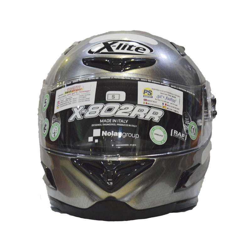 Capacete X-lite X-802RR START 103 SCRATCHED CHROME   - Motosports