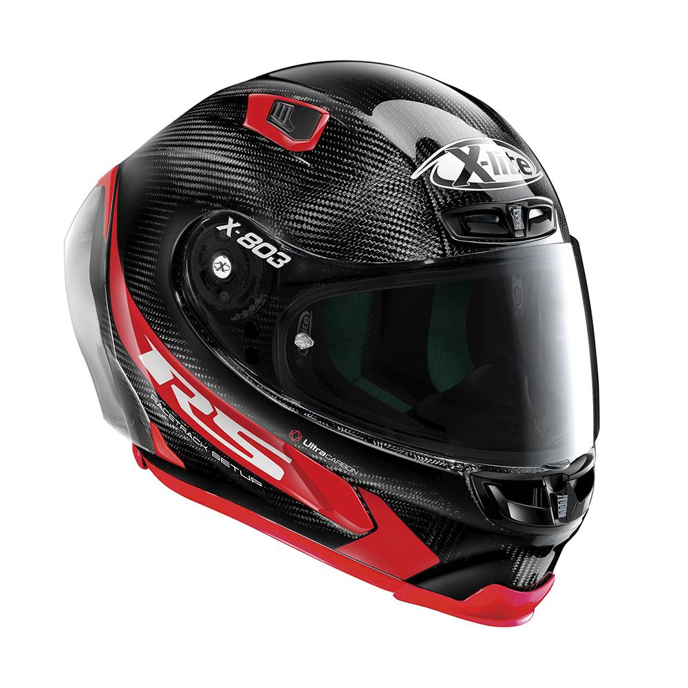 Capacete X-Lite X-803 RS Ultra Carbon Preto - (Grupo Nolan) - Ganhe Touca Balaclava  - Motosports
