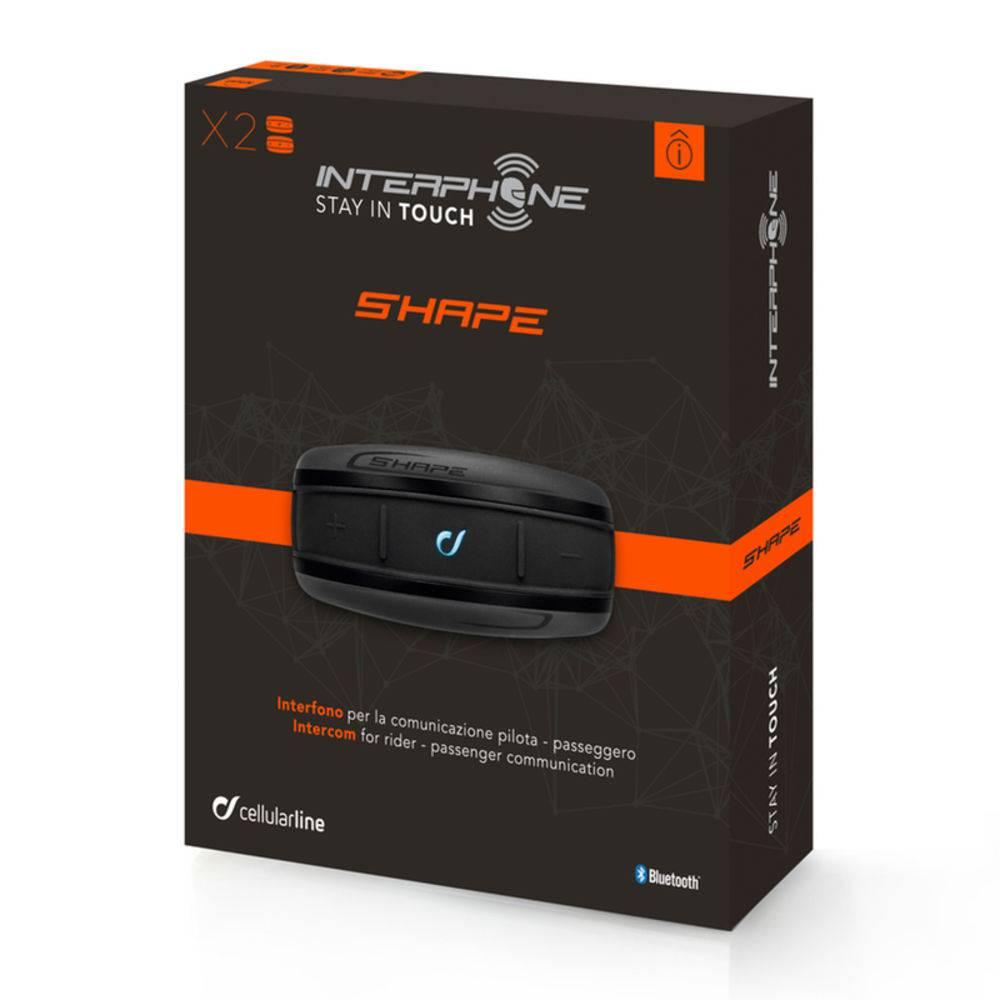 Intercomunicador de Capacete Interphone Shape TP Duplo ( Piloto e Garupa)  - Motosports