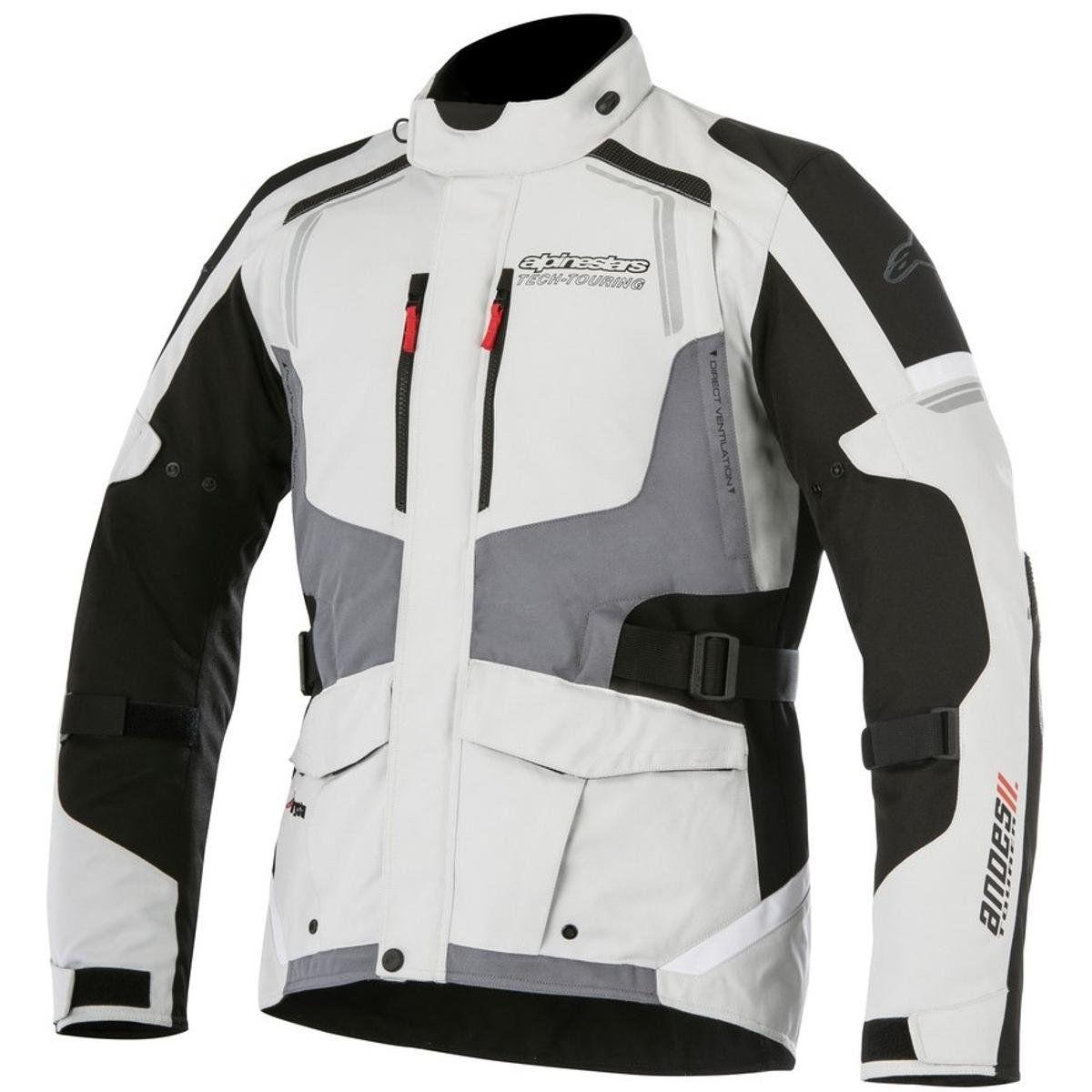 JAQUETA ALPINESTARS ANDES V2 DRYSTAR® CINZA/PRETO IMPERMEÁVEL  - Motosports