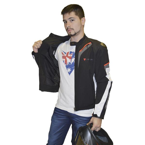 JAQUETA DAINESE ASPIDE TEX BRANCA   - Motosports