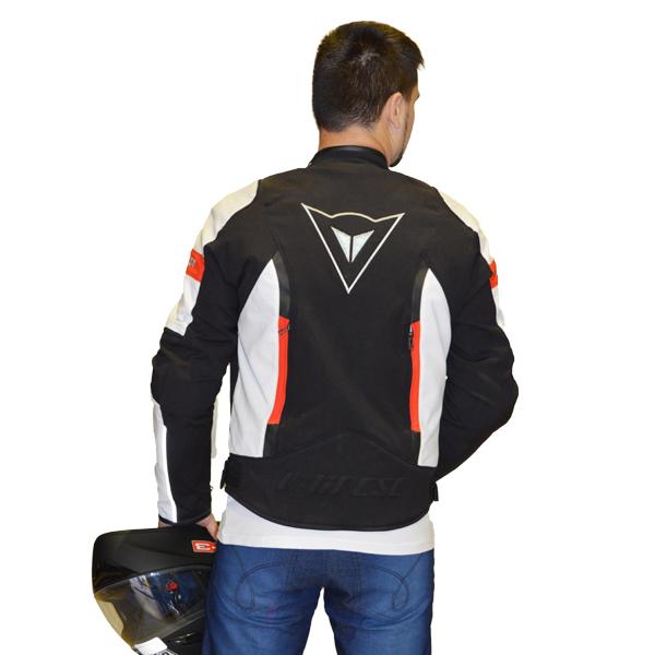 JAQUETA DAINESE AVRO TEX N/B/R  - Motosports