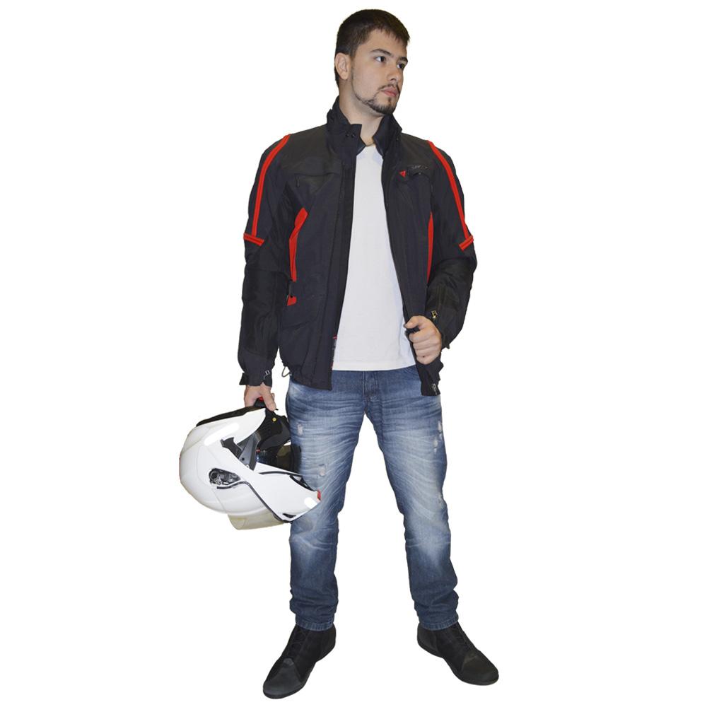 JAQUETA DAINESE BRUCE GORETEX VERMELHA  - Motosports