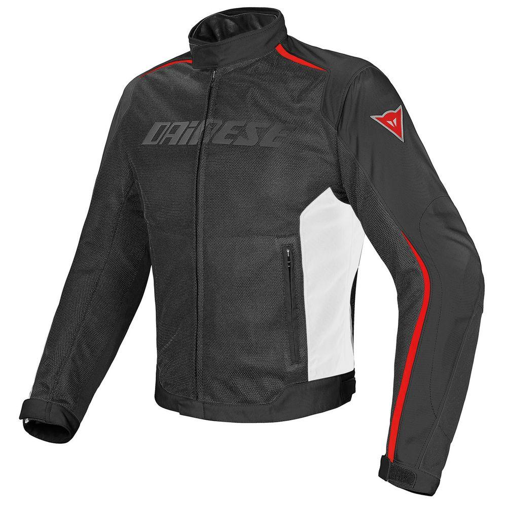 JAQUETA DAINESE HYDRA FLUX D-DRY PRETO, BRANCO E VERMELHO  - Motosports