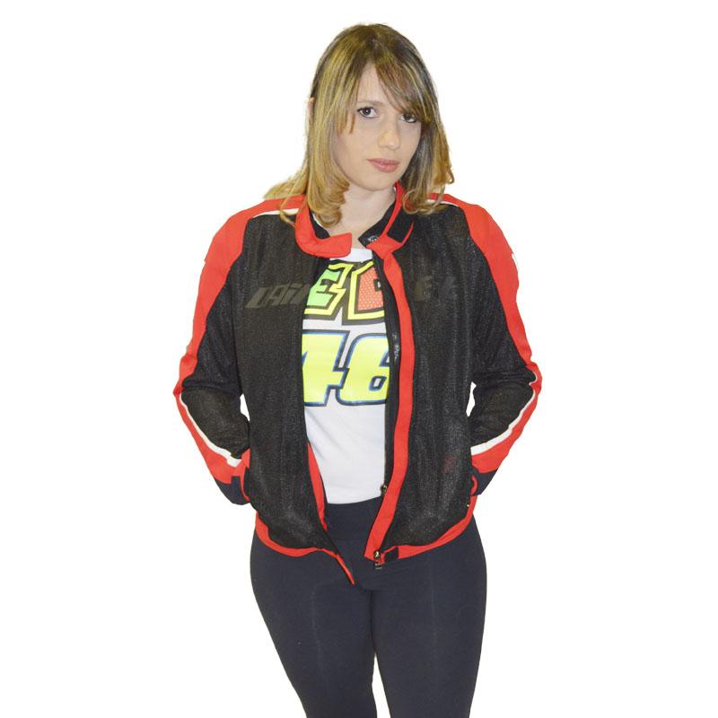 JAQUETA DAINESE HYDRA  LADY IMPERMEAVEL VERM  - Motosports