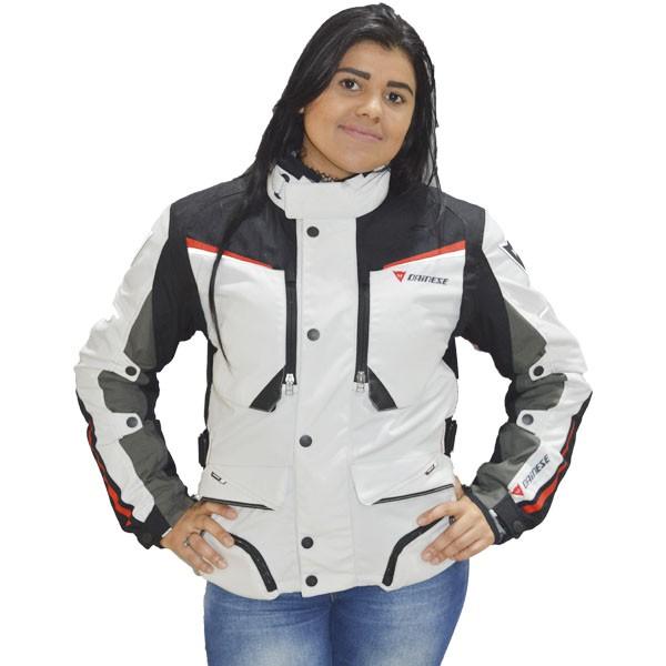 JAQUETA DAINESE SANDSTORM GORETEX FEMININA  - BRANCA   - Motosports