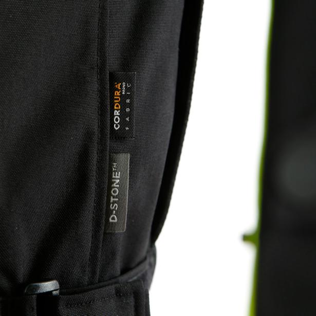JAQUETA DAINESE SAURIS 2 D-DRY BLACK / QUARRY / FLUO YELLOW  - Motosports